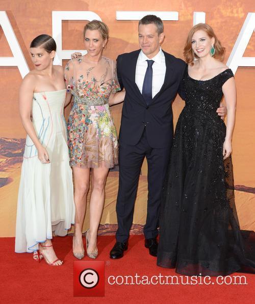 Matt Damon, Kristen Wiig, Jessica Chastain and Kate Mara 3