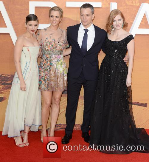 Matt Damon, Kristen Wiig, Jessica Chastain and Kate Mara 4