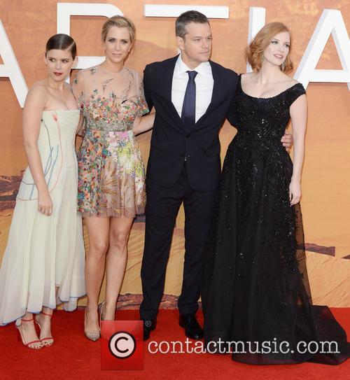 Matt Damon, Kristen Wiig, Jessica Chastain and Kate Mara 5