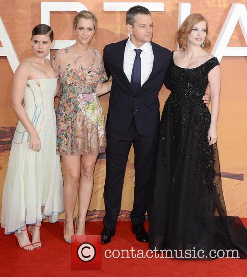 Matt Damon, Kristen Wiig, Jessica Chastain and Kate Mara 6