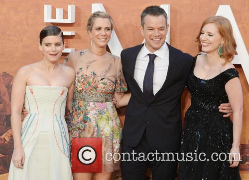 Matt Damon, Kristen Wiig, Jessica Chastain and Kate Mara 7