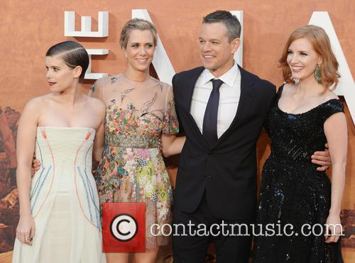 Matt Damon, Kristen Wiig, Jessica Chastain and Kate Mara 1
