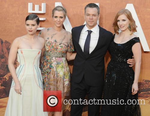 Matt Damon, Kristen Wiig, Jessica Chastain and Kate Mara 9