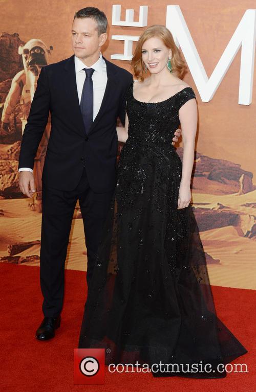 Matt Damon and Jessica Chastain 2