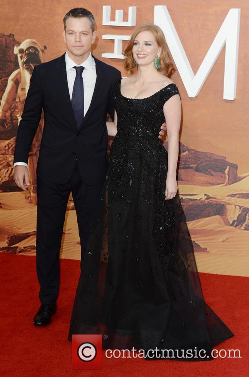 Matt Damon and Jessica Chastain 3