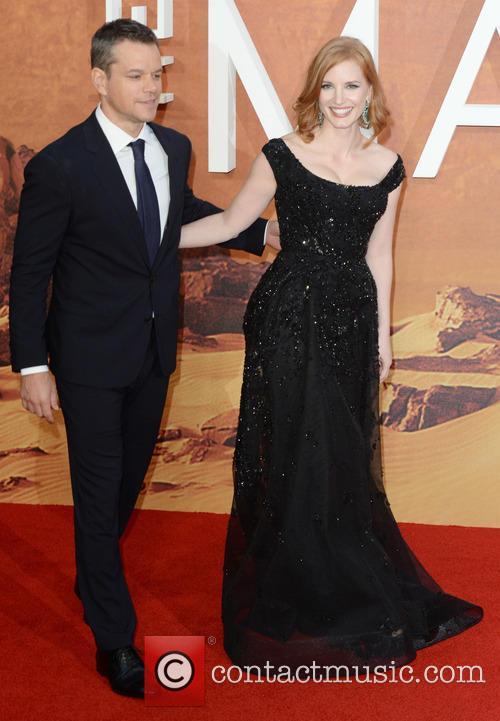 Matt Damon and Jessica Chastain 4