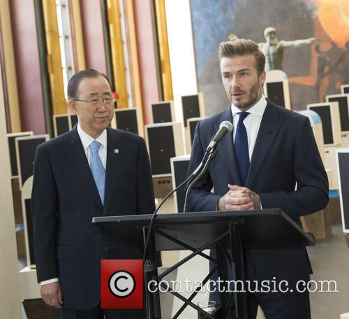 Ban Ki-moon and David Beckham 2