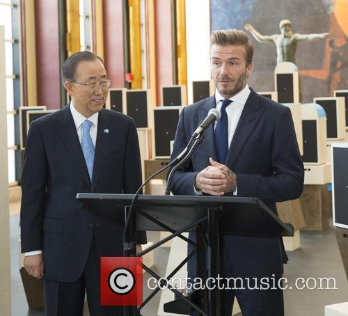 Ban Ki-moon and David Beckham 3