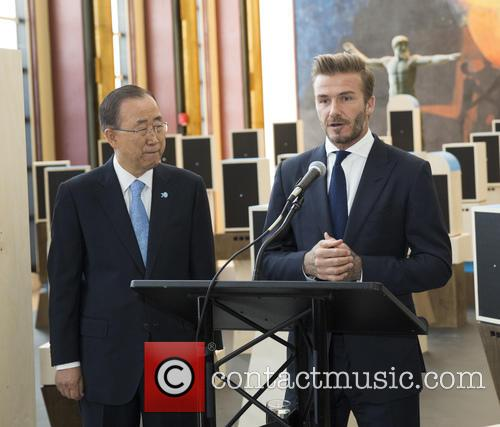 Ban Ki-moon and David Beckham 1