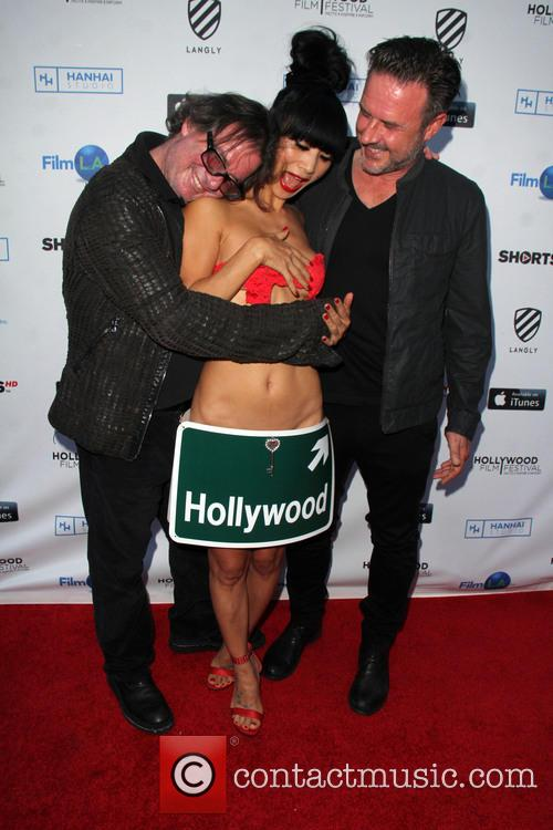 Jefery Levy, Bai Ling and David Arquette 2