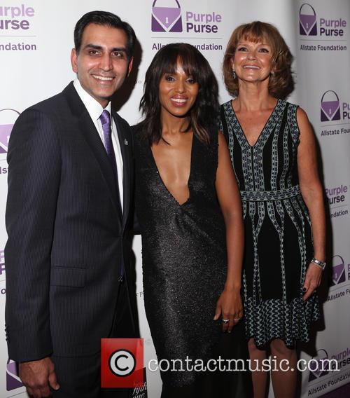 Sanjay Gupta, Kerry Washington and Vicky Dinges 1
