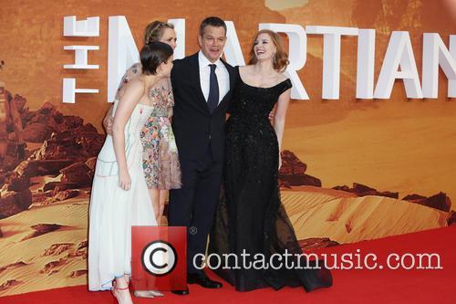 Jessica Chastain, Kristen Wiig, Kate Mara and Matt Damon 1