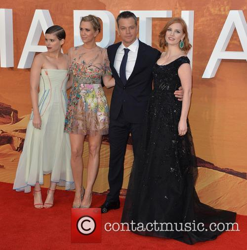 Kate Mara, Kristen Wiig, Matt Damon and Jessica Chastain 1