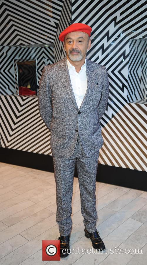 Christian Louboutin visits the Selfridges