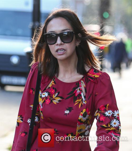 Myleene red dress