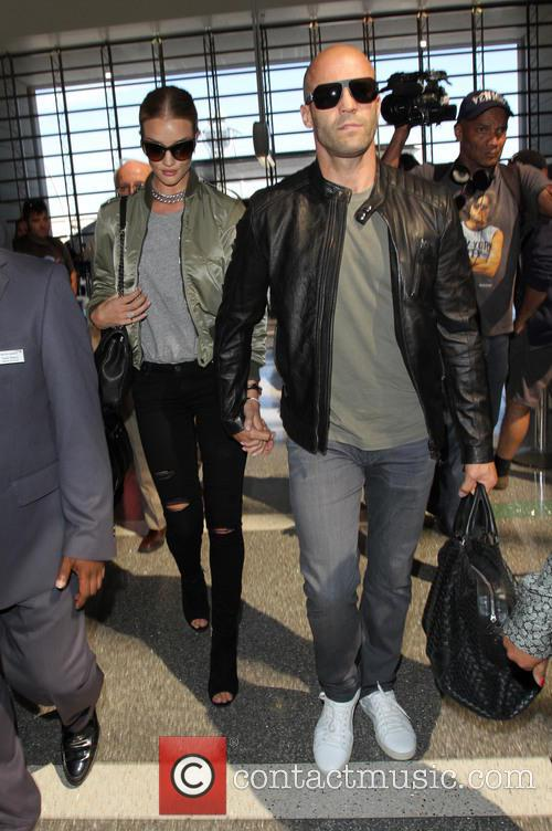 Rosie Huntington-Whiteley and Jason Statham depart from Los...
