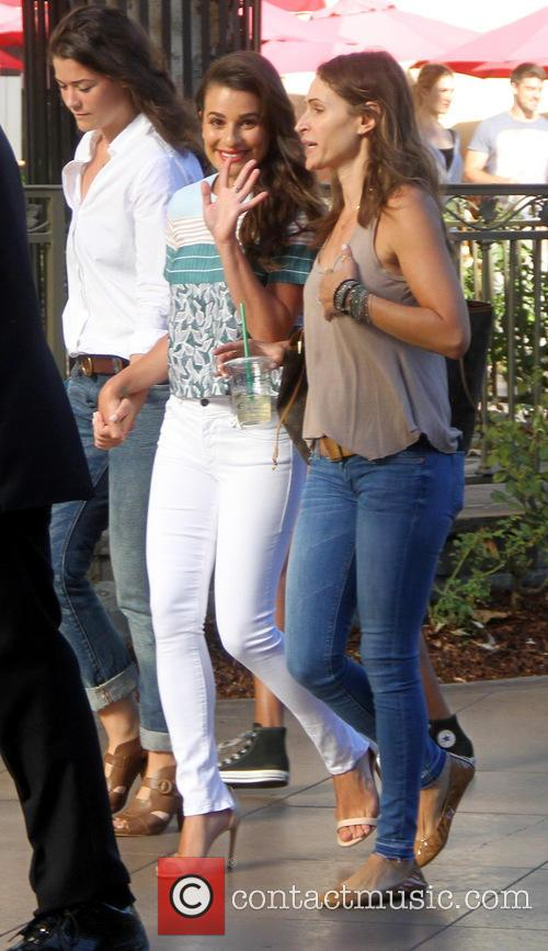 Lea Michele out shopping at The Grove