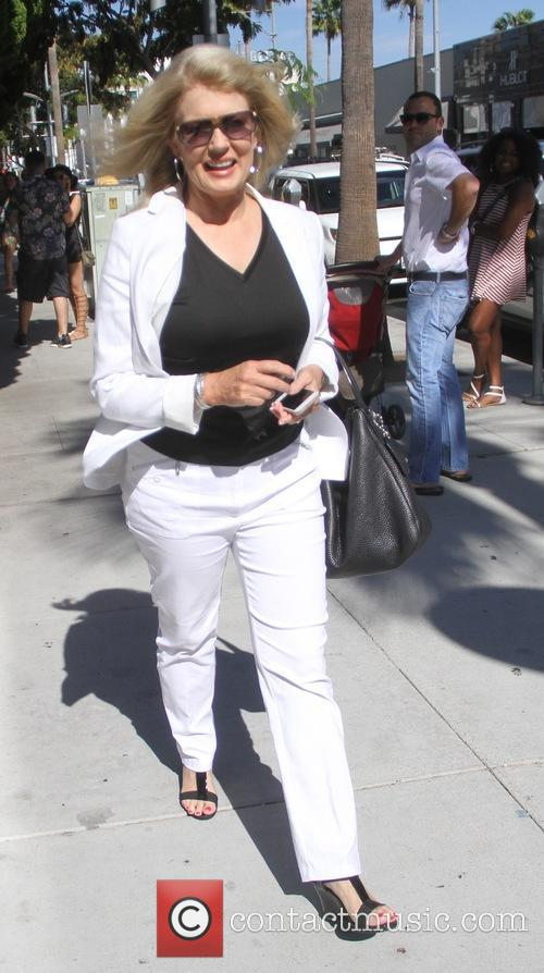 Mary Hart goes shopping in Beverly Hills