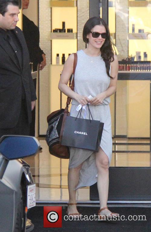 Rachel Bilson leaving a Chanel store after doing...
