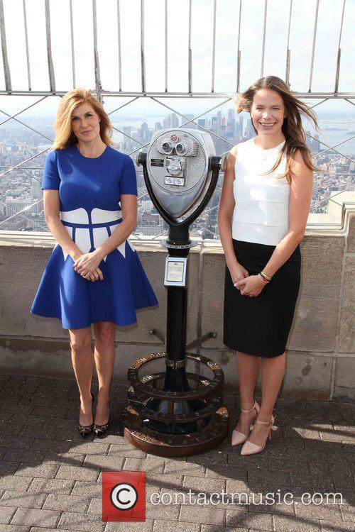 Connie Britton illuminates the Empire State Building