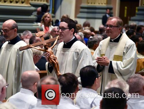 Pope Francis says Mass at the Cathedral Basilica...