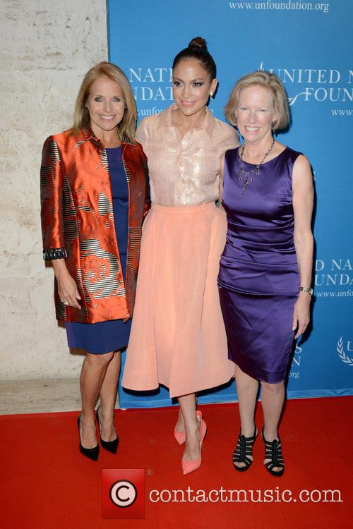 Katie Couric, Jennifer Lopez and Kathy Calvin 4