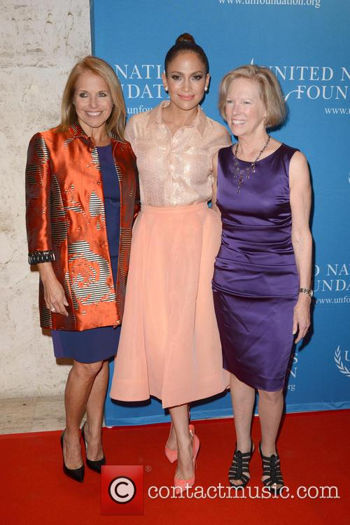 Katie Couric, Jennifer Lopez and Kathy Calvin 1