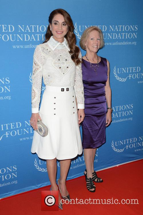 Queen Rania Of Jordan and Kathy Calvin 2