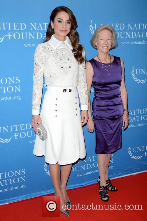 Queen Rania Of Jordan and Kathy Calvin 3