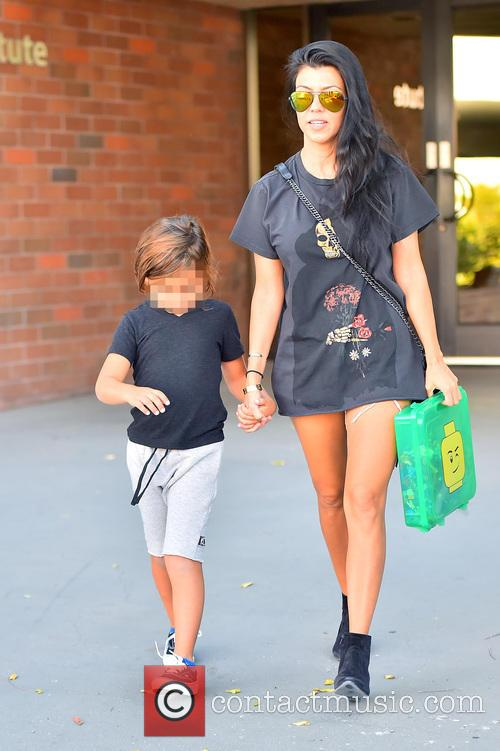 Kourtney Kardashian and Mason Dash Disick 1
