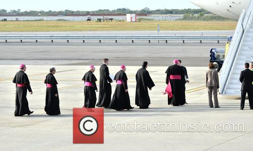 Bishops Waiting To Greet The Pope 1