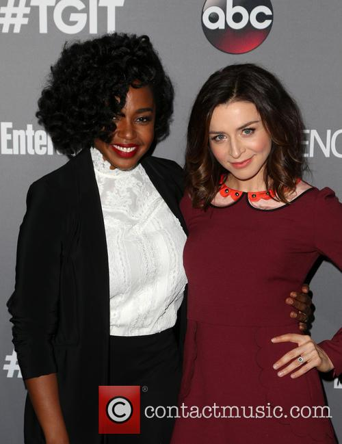 Jerrika Hinton and Caterina Scorsone 3