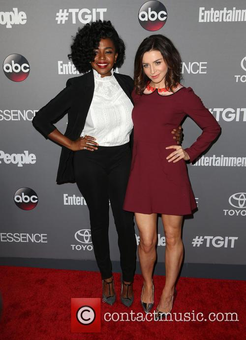 Jerrika Hinton and Caterina Scorsone 1