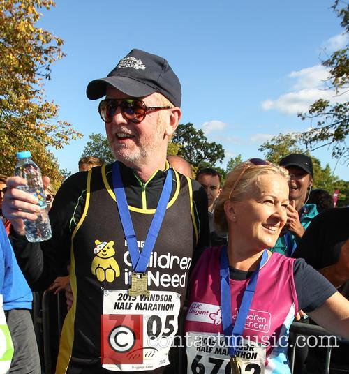 Chris Evans competes in the Windsor half marathon