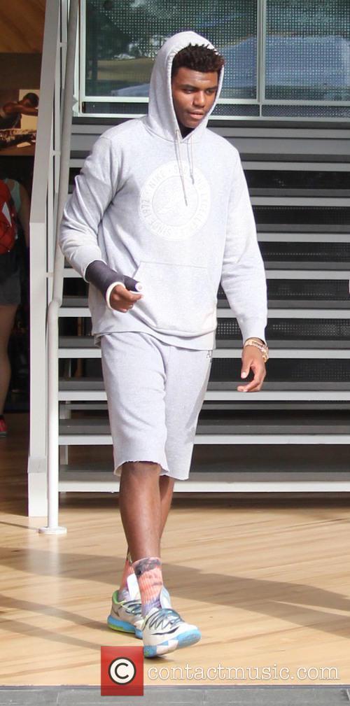Shareef O'Neal on a shopping spree