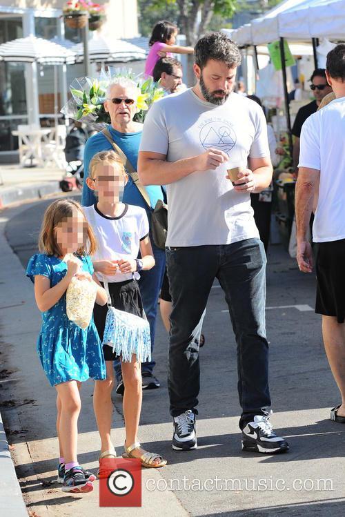 Ben Affleck, Violet Affleck and Seraphina Rose Affleck 2