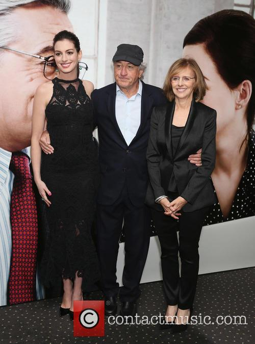 Anne Hathaway, Robert De Niro and Nancy Meyers 1