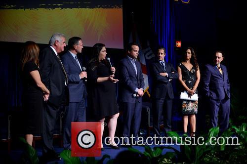 Elizabeth Bejar, Dr. Pedro Jose Greer, Brent Wilkes, Gaby Pacheco, Jorge Plasencia, Alberto Carvalho, Soledad O'brien and Dr. José A. Vicente 1
