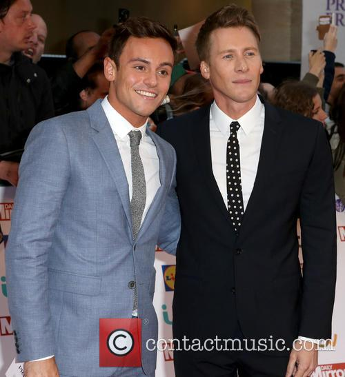 Tom Daley and Lance Black