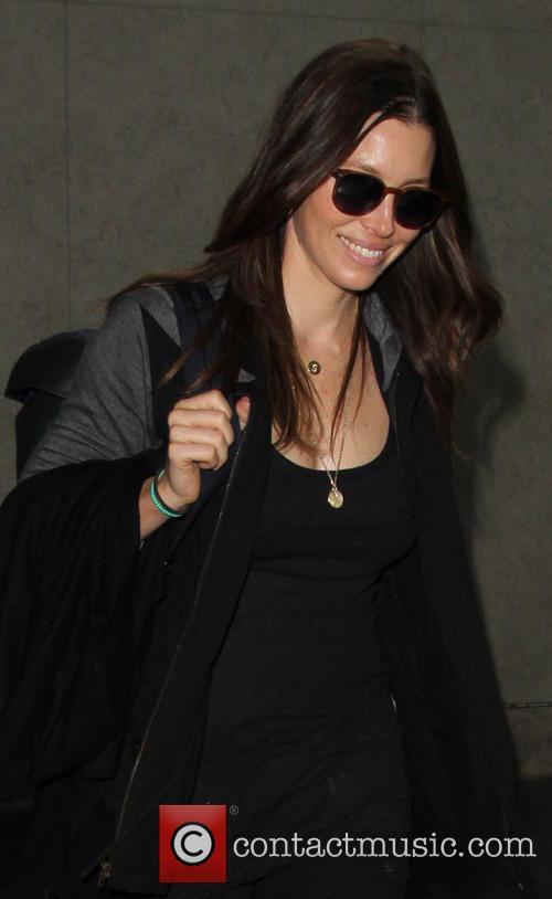 Jessica Biel arrives at LAX