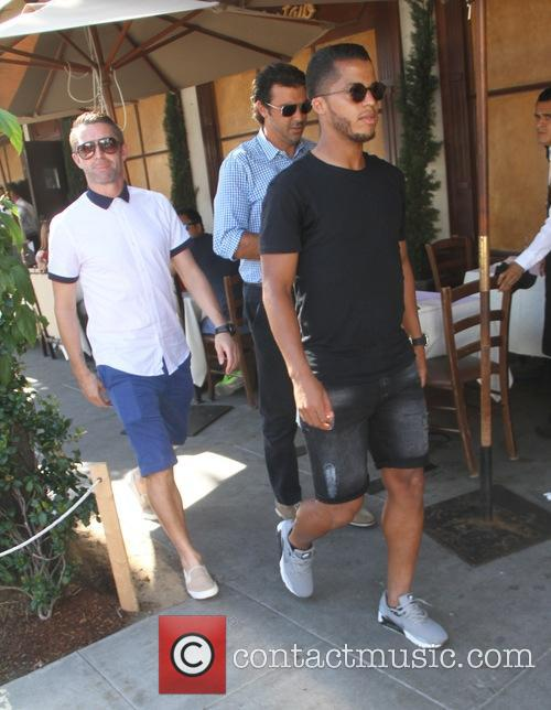 Robbie Keane and Giovani dos Santos have lunch