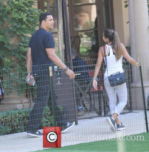 Tony Gonzalez takes his wife to lunch in...