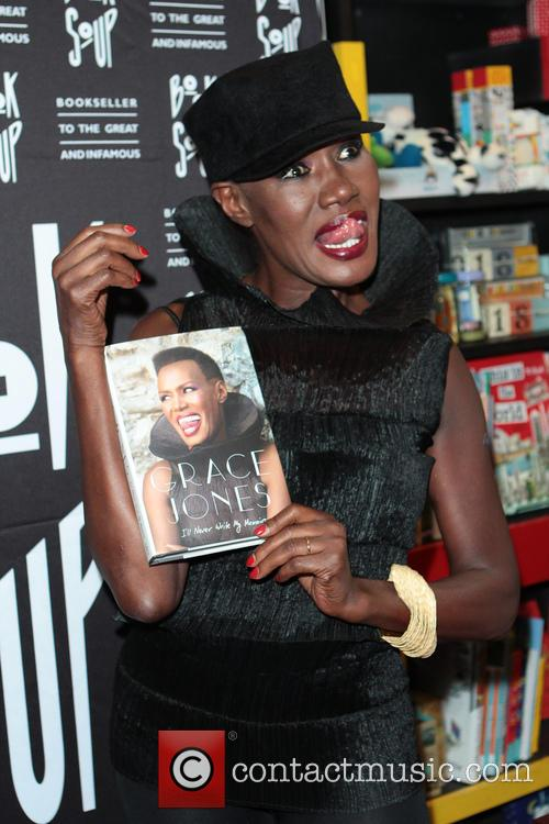 Grace Jones signs and discusses her new book...