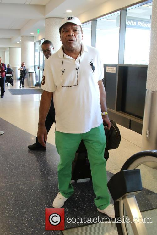 John Witherspoon departs from Los Angeles International Airport...