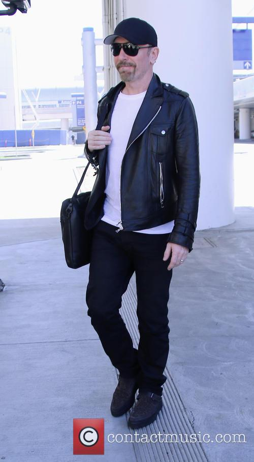 The Edge arriving at Los Angeles International Airport...