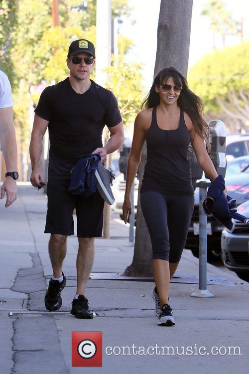 Matt Damon and Luciana Barroso 10