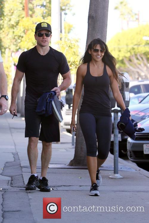 Matt Damon and Luciana Barroso 11