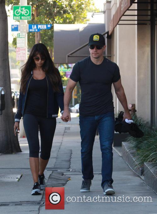 Matt Damon and Luciana Barroso 10