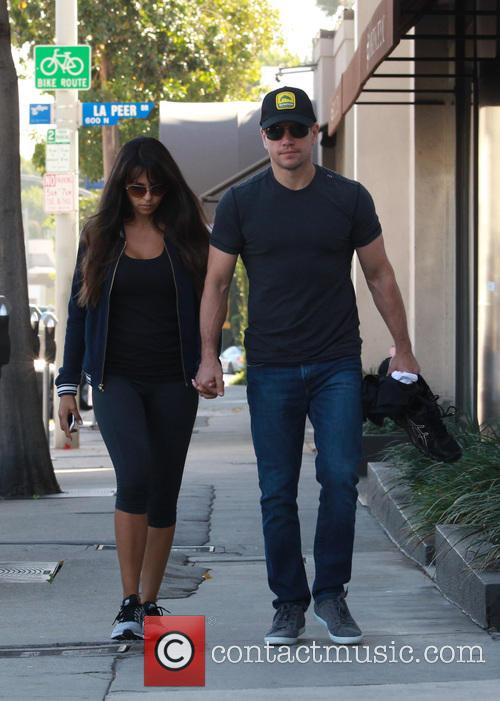 Matt Damon and Luciana Barroso 11