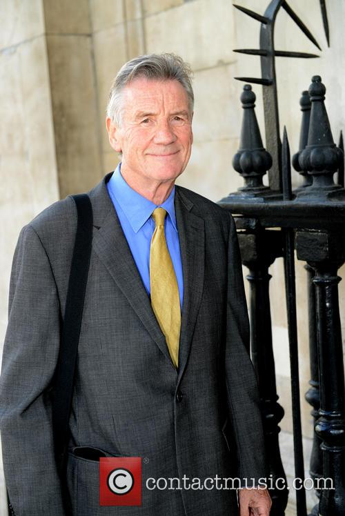 Michael Palin arrives for Ion Trewin's memorial service